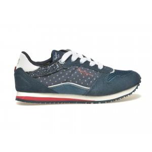 Pantofi Sport Pentru Copii Pepe Jeans Bleumarin, Din Piele Intoarsa