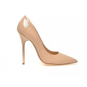Pantofi Epica Ex08-a Nude, Din Piele Naturala Lacuita