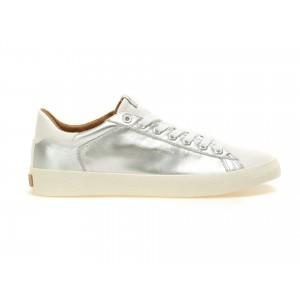 Pantofi Pepe Jeans Argintii, Ms30332, Din Piele Naturala