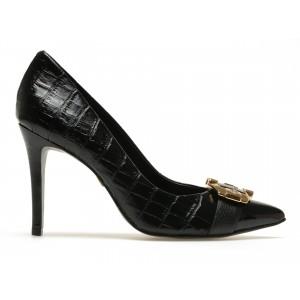 Pantofi Jorge Bischoff J40158081a04 Negri, Din Piele Naturala