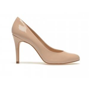 Pantofi Epica Nude, 40016a, Din Piele Naturala Lacuita