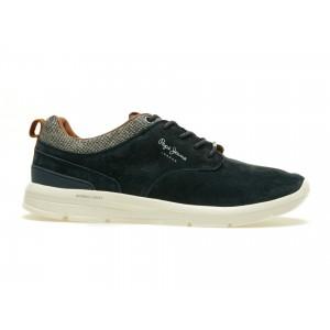 Pantofi Pepe Jeans Bleumarin, Ms30269, Din Piele Intoarsa