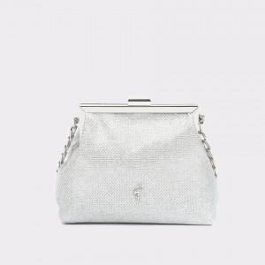 Poseta Menbur Argintie, 84285, Din Material Textil