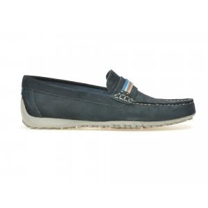 Pantofi Mocasini Geox, Bleumarin, U7207f9, Din Piele Intoarsa