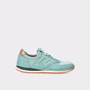 Pantofi Sport New Balance Verzi, Wl420, Din Material Textil Si Piele