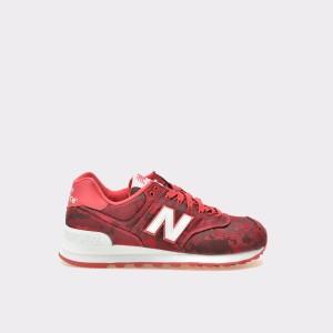 Pantofi Sport New Balance Visinii, Wl574, Din Material Textil Si Piele