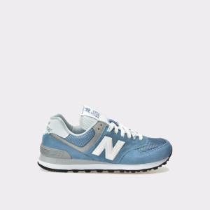 Pantofi Sport New Balance Albastri, Wl574, Din Material Textil Si Piele
