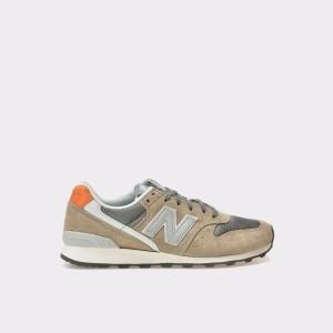 Pantofi Sport New Balance Bej, Wr996, Din Material Textil Si Piele