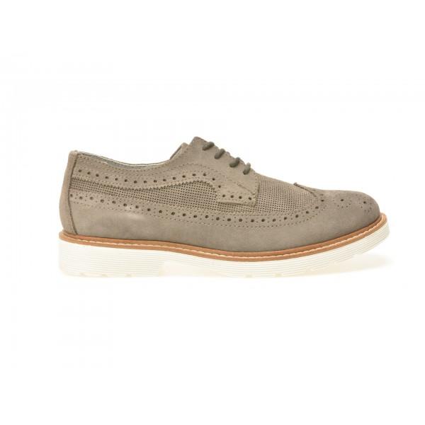 Pantofi TRIVICT gri, W16080, din piele intoarsa de la Trivict otter.ro