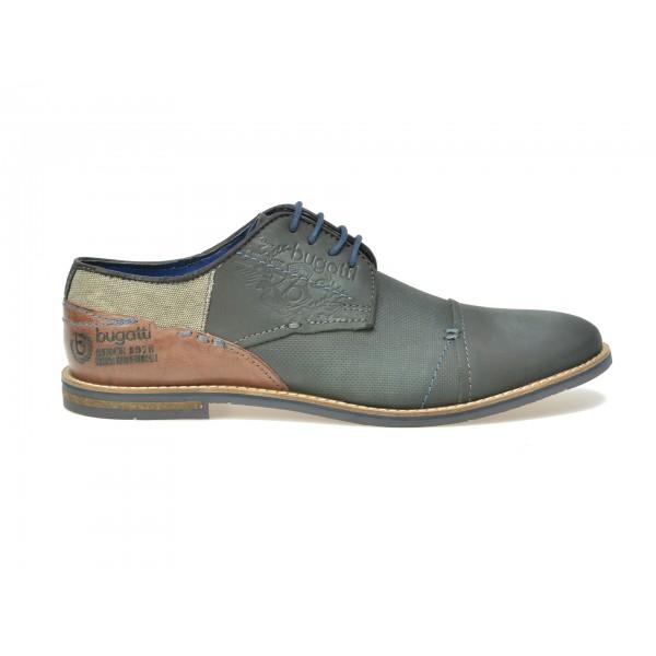 Pantofi BUGATTI negri, 11111, din nabuc de la Bugatti otter.ro