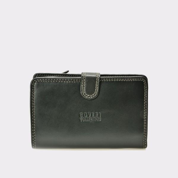 Portofel negru, 8661St1, din piele naturala de la Altele otter.ro