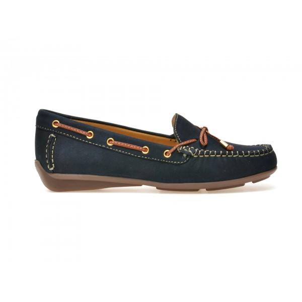 Pantofi mocasini OTTER bleumarin, 16001, din nabuc de la Otter otter.ro