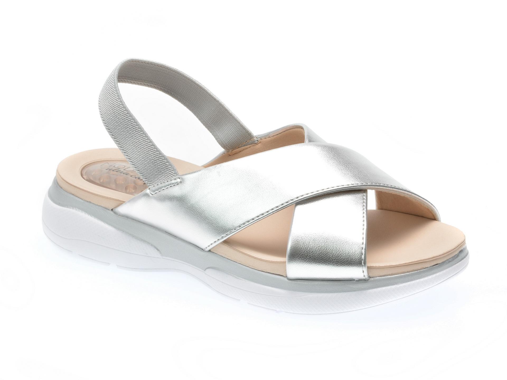Sandale argintii, 7115106, din piele ecologica
