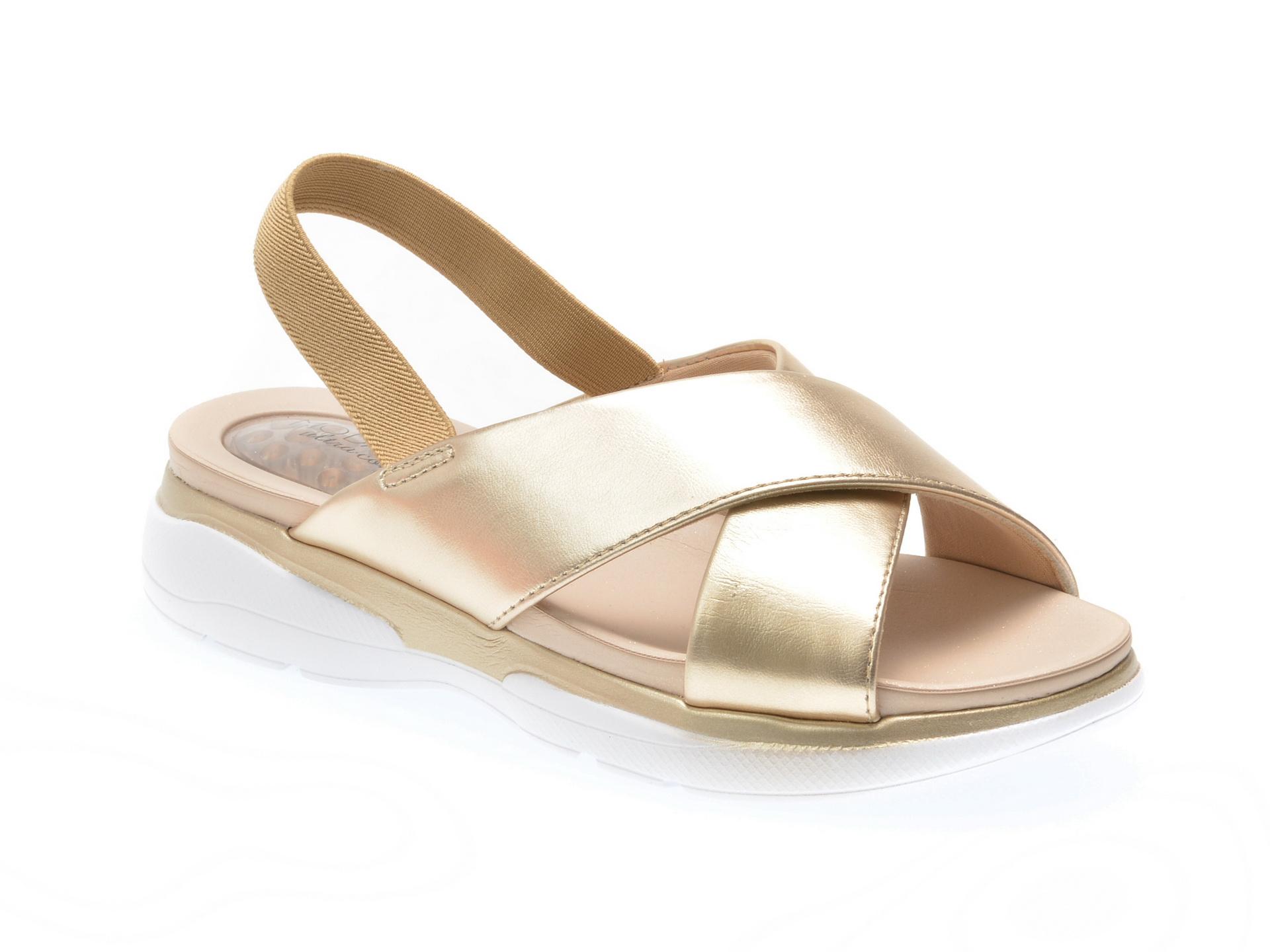 Sandale aurii, 7115106, din piele ecologica