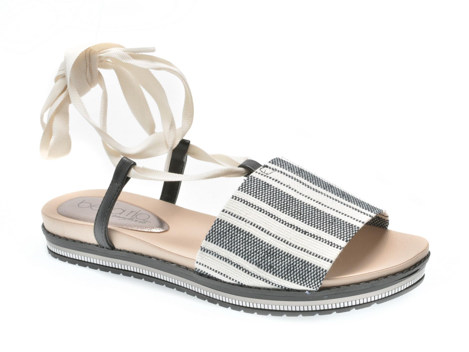 Sandale gri, 8321414, din material textil