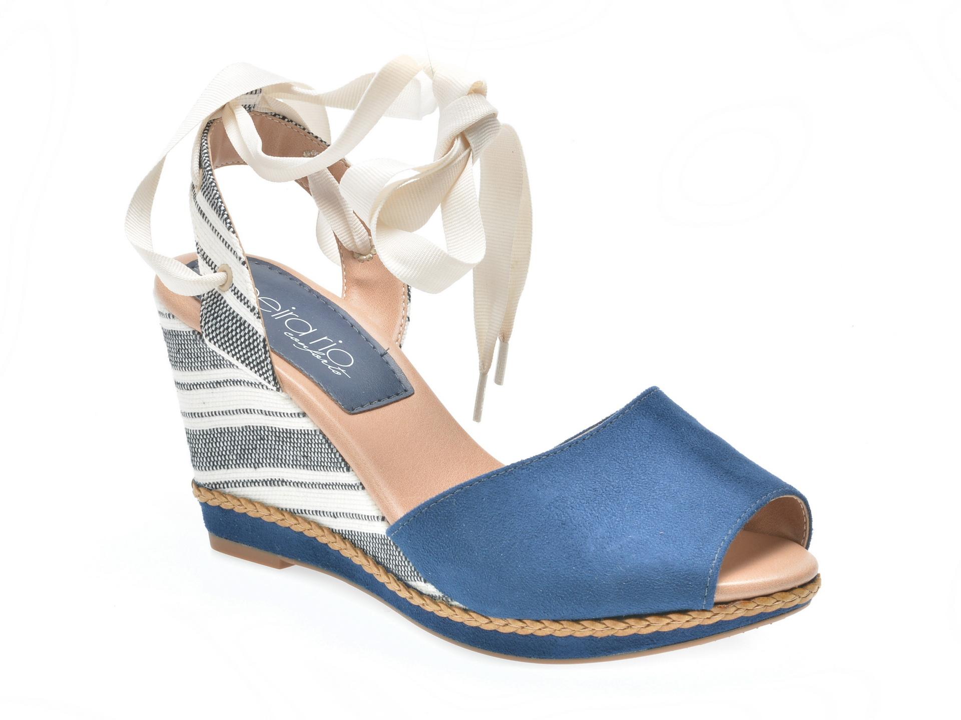 Sandale bleumarin, 8304316, din piele ecologica