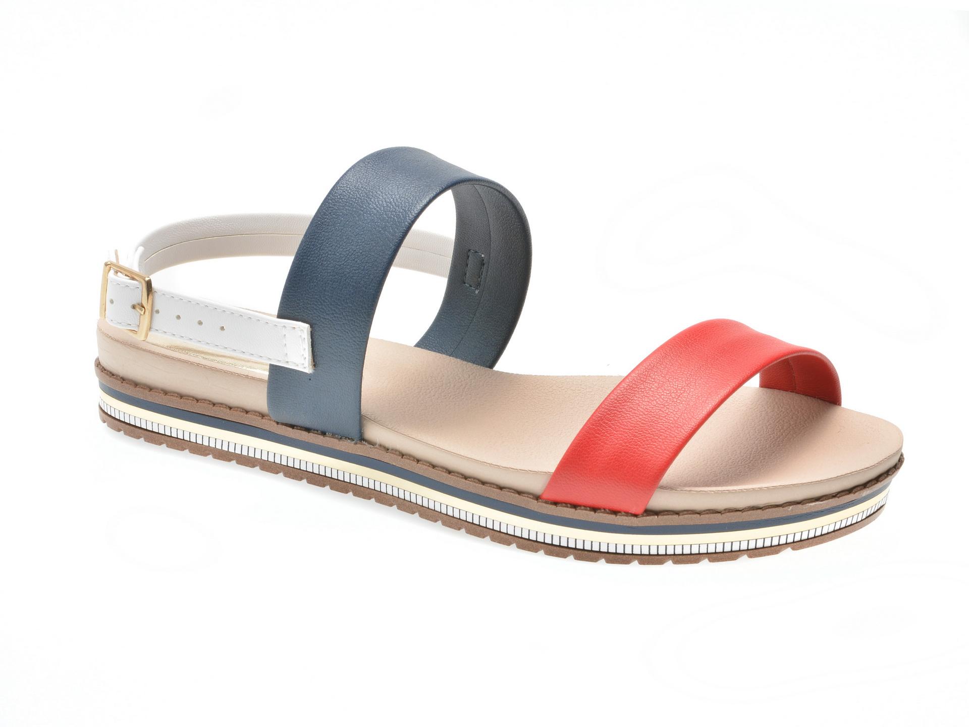 Sandale bleumarin, 8321403, din piele ecologica