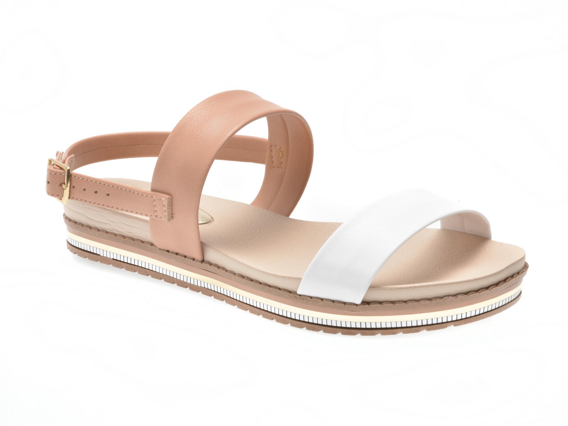 Sandale nude, 8321403, din piele ecologica
