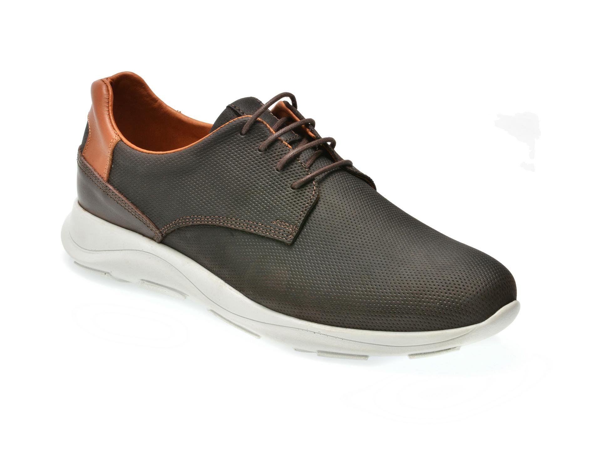 Pantofi sport OTTER maro, M4494, din nabuc