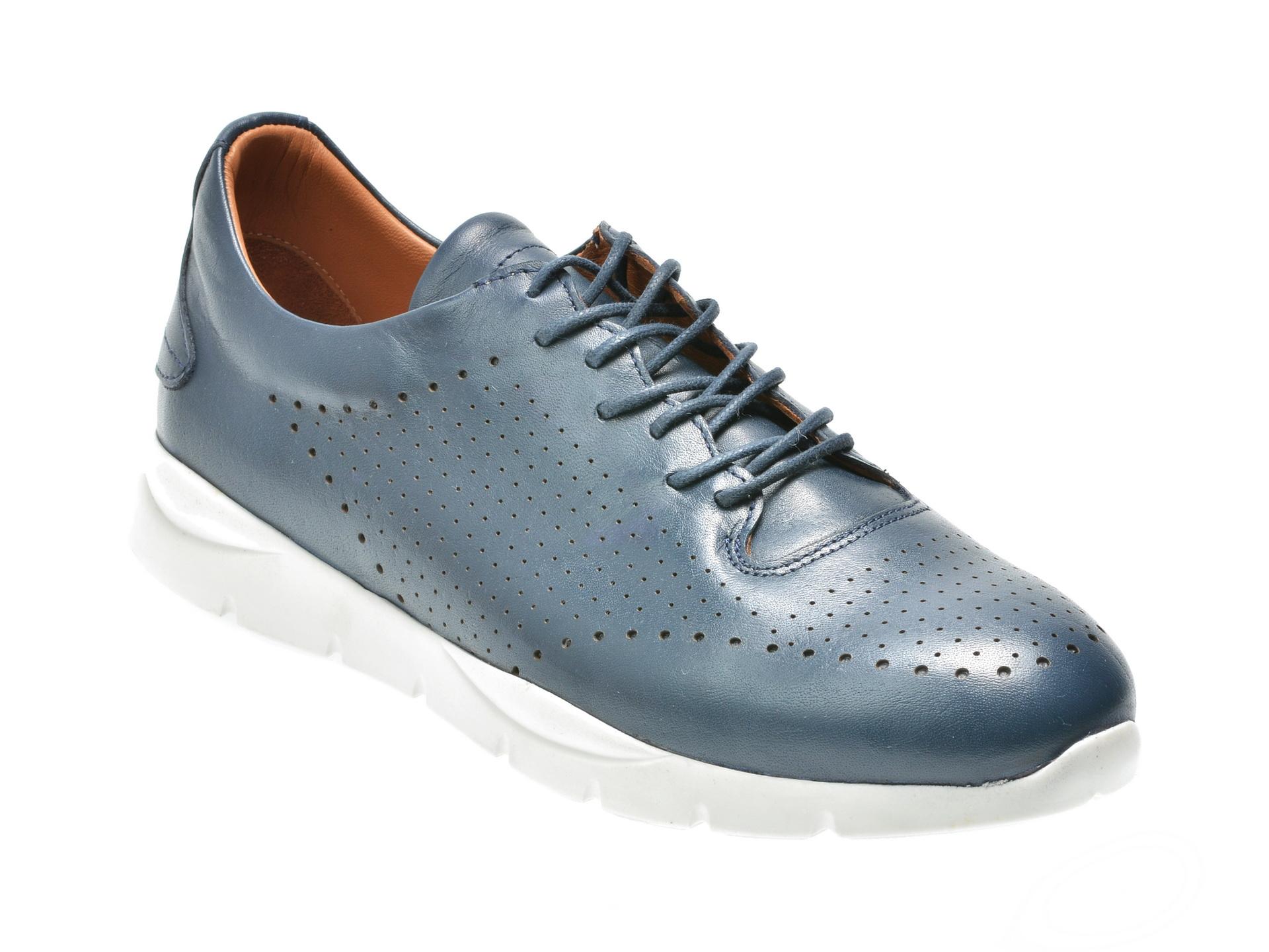 Pantofi OTTER bleumarin, M4498, din piele naturala