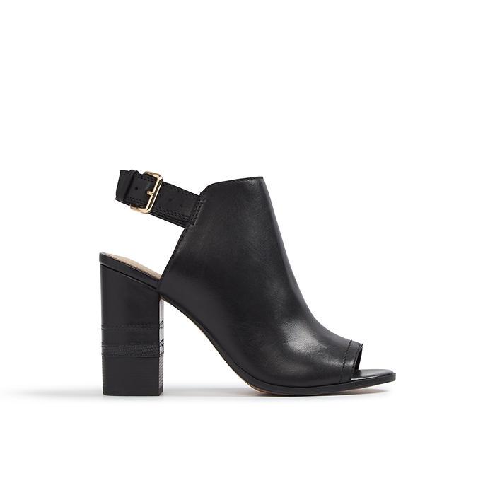 Sandale negre, de dama, ALDO CARTIERA, din piele naturala