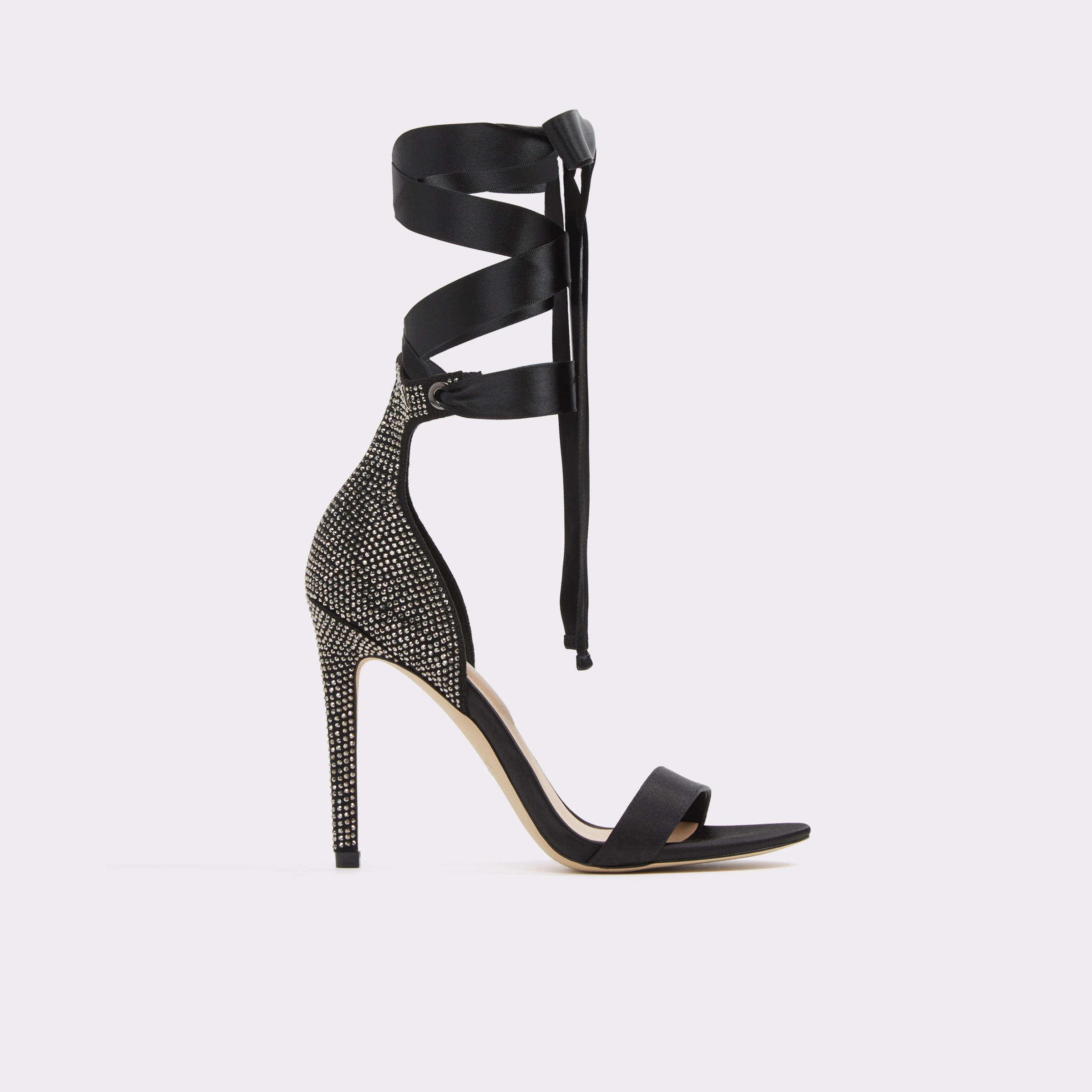 Sandale negre, de dama, ALDO - Miril94, din material textil