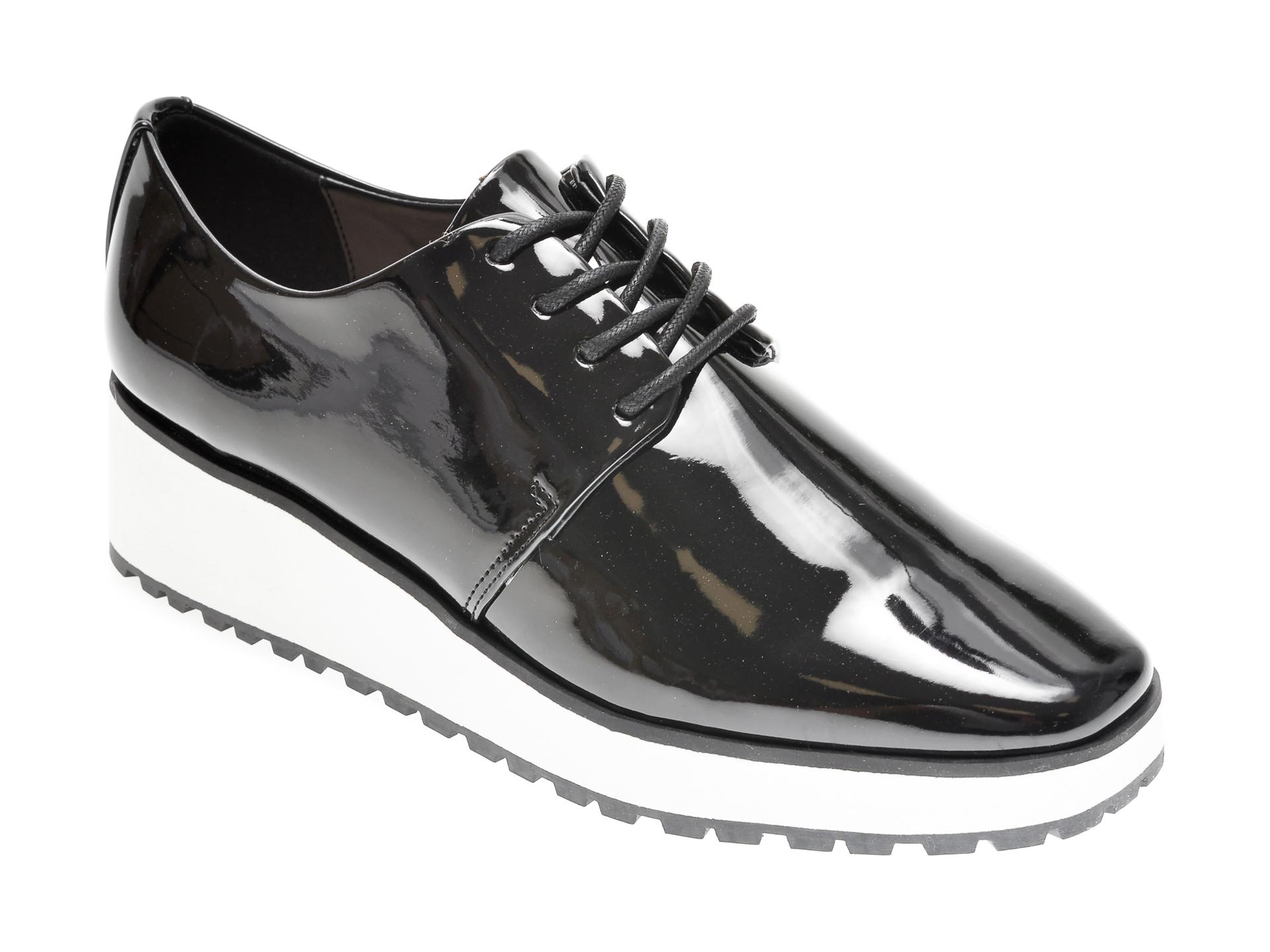 Pantofi Negri, Tux001, Din Piele Ecologica