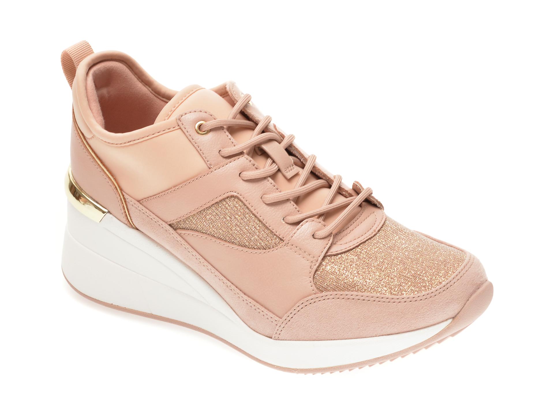 Pantofi Sport Aldo Nude, Thrundra680, Din Material Textil Si Piele Ecologica