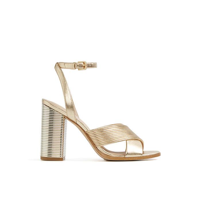 Sandale aurii, de dama, ALDO PETRUSA, din piele naturala