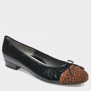 Pantofi ARA negri, din piele naturala lacuita