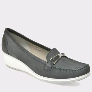 Pantofi ARA bleumarin, 30908, din nabuc