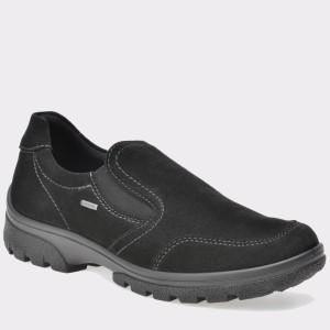 Pantofi ARA negri, 49346, din piele intoarsa