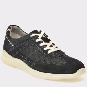 Pantofi OTTER bleumarin, 949601, din piele intoarsa