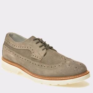 Pantofi TRIVICT gri, W16080, din piele intoarsa
