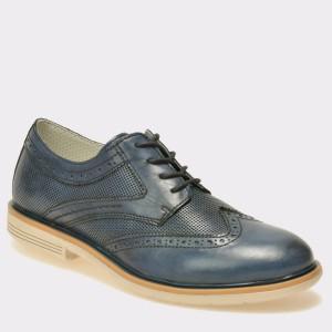 Pantofi TRIVICT bleumarin, S17012, din piele naturala