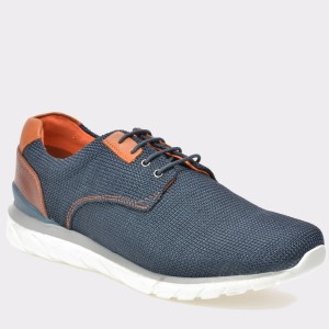 Pantofi BUGATTI bleumarin, K4209, din material textil