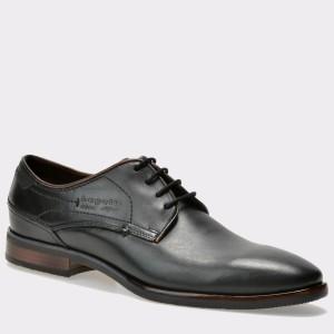 Pantofi BUGATTI negri, 16704, din piele naturala