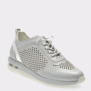 Pantofi sport BUGATTI argintii, 45201, din piele ecologica