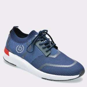 Pantofi sport BUGATTI albastri, 30561, din material textil