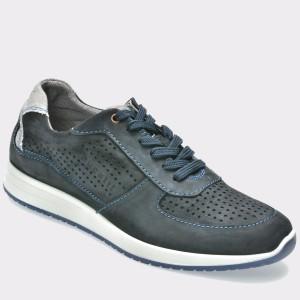Pantofi sport BUGATTI bleumarin, 38503, din nabuc