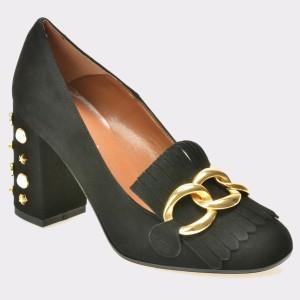 Pantofi EPICA negri, 1868, din piele intoarsa