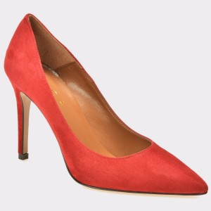 Pantofi EPICA rosii, 921, din piele intoarsa