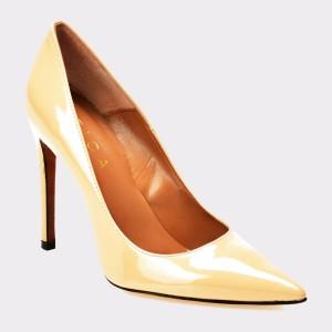 Pantofi EPICA nude, 100, din piele naturala lacuita