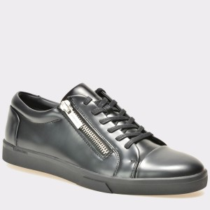 Pantofi CALVIN KLEIN negri, F0933, din piele ecologica
