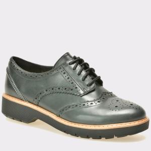 Pantofi CLARKS negri, 6127304, din nabuc