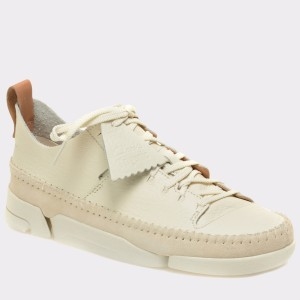 Pantofi CLARKS albi, 6107575, din nabuc