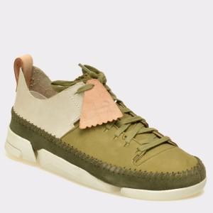 Pantofi CLARKS verzi, 6122733, din nabuc