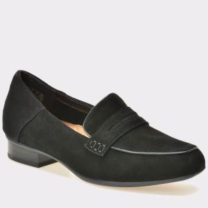 Pantofi CLARKS negri, 6128478, din piele intoarsa