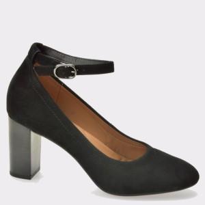Pantofi CLARKS negri, 6128824, din piele intoarsa