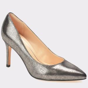 Pantofi CLARKS argintii, 6126705, din piele naturala lacuita